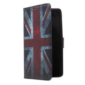 Cross peňaženkové puzdro na Huawei Honor 7 - UK vlajka - 1