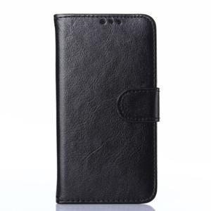 Koženkové puzdro pre mobil Huawei Ascend P8 - čierné - 1