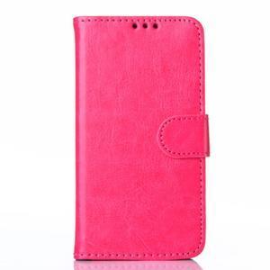 Koženkové puzdro na mobil Huawei Ascend P8 - rose - 1