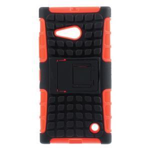 Outdoor odolný kryt na Nokia Lumia 730/735 - oranžový - 1
