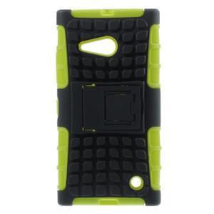 Outdoor odolný kryt na Nokia Lumia 730/735 - zelený - 1