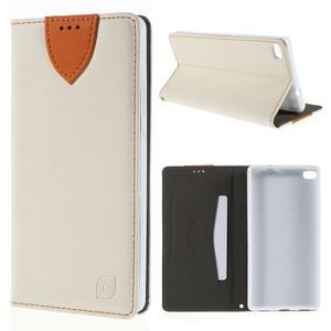 Style peňaženkové puzdro na Huawei Ascend P8 - biele - 1