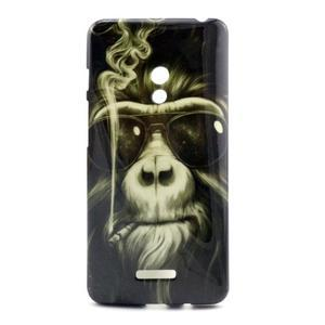 Soft gélový obal na Asus Zenfone 5 - kouřící orangutan - 1
