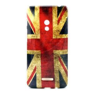 Soft gélový obal pre Asus Zenfone 5 - UK vlajka - 1
