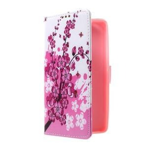 Cross peňaženkové puzdro na Huawei Honor 7 - kvetoucí větvička - 1