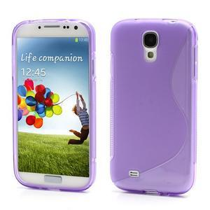 S-line gélový obal pre Samsung Galaxy S4 - fialový - 1