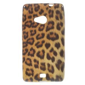 Soft gélový obal pre Microsoft Lumia 535 - leopard - 1