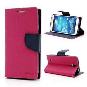 Fancy peňaženkové puzdro na Samsung Galaxy S4 -  rose - 1