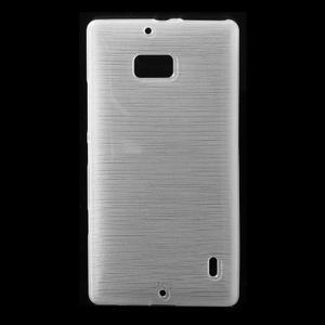 Gélový obal s brúseným vzorem Nokia Lumia 930 - biely - 1