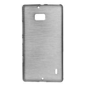 Gélový obal s brúseným vzorem Nokia Lumia 930 - sivý - 1