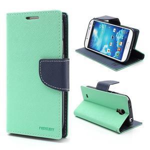Fancy peňaženkové puzdro na Samsung Galaxy S4 -  azurové - 1