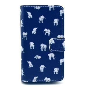 Peňaženkové puzdro na Huawei Ascend Y300 - banda slonov - 1