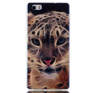 Blu-ray magic gelový obal na Huawei Ascend P8 Lite - leopard - 1