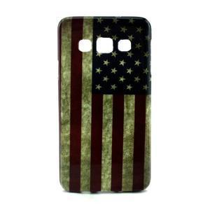 Gélový kryt na Samsung Galaxy A3 - vlajka USA - 1