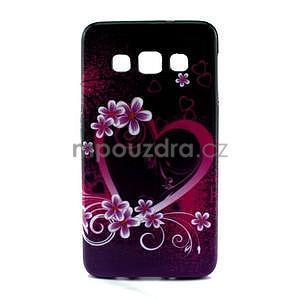 Gélový kryt na Samsung Galaxy A3 - srdce - 1