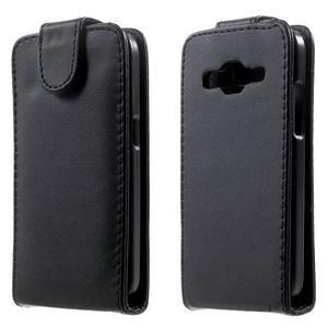Černé flipové puzdro pre Samsung Galaxy Core Prime - 1