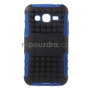 Extrémne odolný obal so stojanom pre Samsung Galaxy Core Prime - modrý - 1
