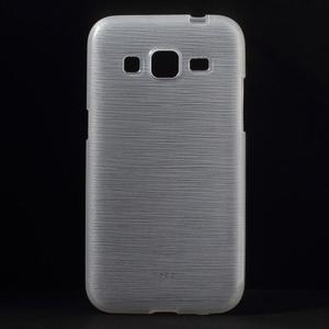 Broušený gelový kryt na Samsung Galaxy Core Prime - transparentní - 1