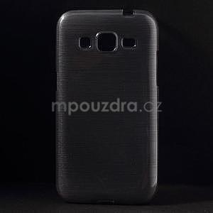 Brúsený gélový kryt pre Samsung Galaxy Core Prime - šedý - 1