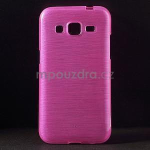 Broušený gelový kryt na Samsung Galaxy Core Prime - rose - 1