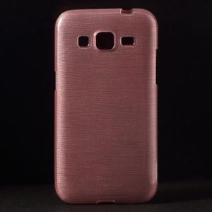 Brúsený gélový kryt pre Samsung Galaxy Core Prime - ružový - 1