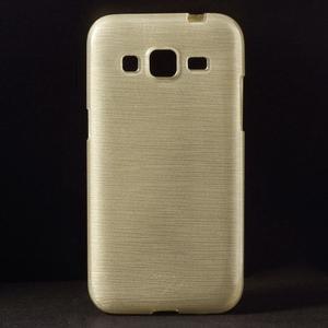 Brúsený gélový kryt pre Samsung Galaxy Core Prime - zlatý - 1