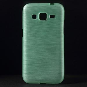 Brúsený gélový kryt pre Samsung Galaxy Core Prime - cyan - 1