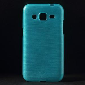 Brúsený gélový kryt pre Samsung Galaxy Core Prime - tyrkysový - 1