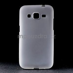Bílý matný gelový kryt Samsung Galaxy Core Prime - 1