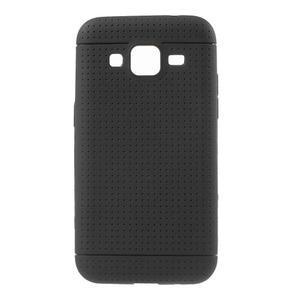 Čierny tečkovaný kryt pre Samsung Galaxy Core Prime - 1
