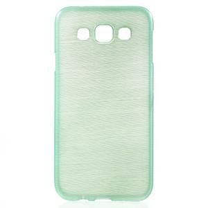 Broušené gélový kryt pre Samsung Galaxy E5 - cyan - 1