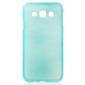 Broušené gélový kryt na Samsung Galaxy E5 - tyrkysový - 1