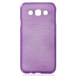 Broušené gélový kryt na Samsung Galaxy E5 - fialový - 1
