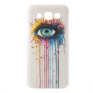 Gélový obal pre mobil Samsung Galaxy E5 - farebné oko - 1