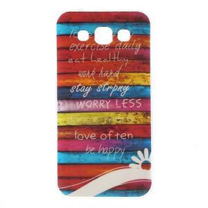 Gélový obal na mobil Samsung Galaxy E5 - farebné desky - 1
