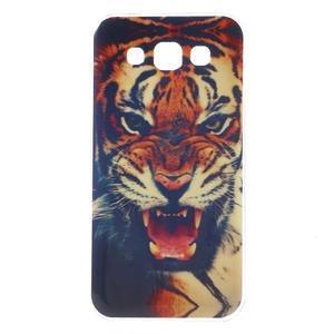 Gélový obal pre mobil Samsung Galaxy E5 - tiger - 1