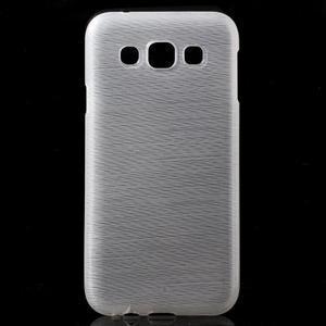 Broušené gélový kryt pre Samsung Galaxy E5 - biely - 1