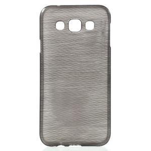 Broušené gélový kryt pre Samsung Galaxy E5 - šedý - 1