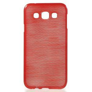 Broušené gélový kryt na Samsung Galaxy E5 - červený - 1