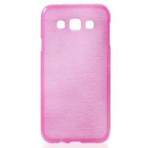 Broušené gélový kryt pre Samsung Galaxy E5 - rose - 1