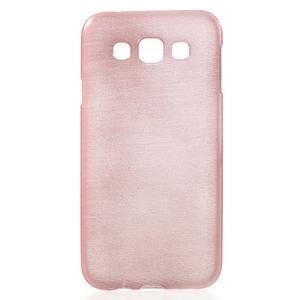 Broušené gélový kryt na Samsung Galaxy E5 - růžový - 1