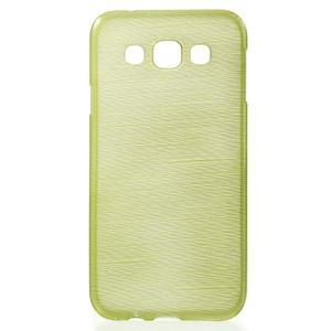 Broušené gélový kryt pre Samsung Galaxy E5 - okrový - 1