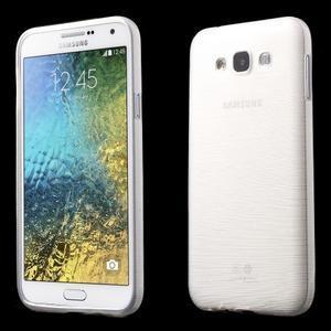 Broušený gélový obal pre Samsung Galaxy E7 - biely - 1