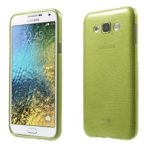 Broušený gélový obal pre Samsung Galaxy E7 - zelený - 1