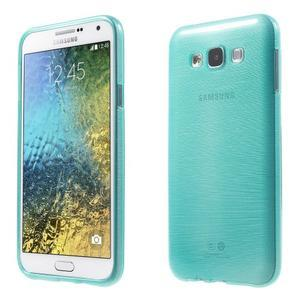 Broušený gélový obal pre Samsung Galaxy E7 - tyrkysový - 1