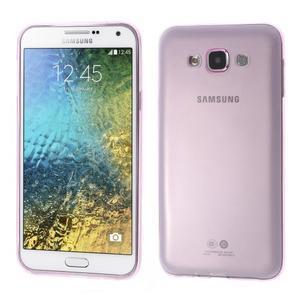 Ulta tenký obal pre Samsung Galaxy E7 - ružový - 1