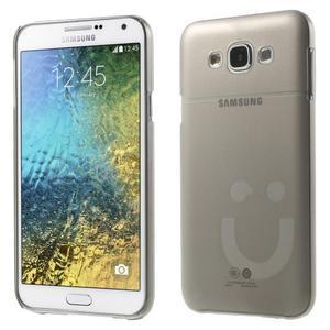 Plastový kryt pre mobil Samsung Galaxy E7 - šedý - 1