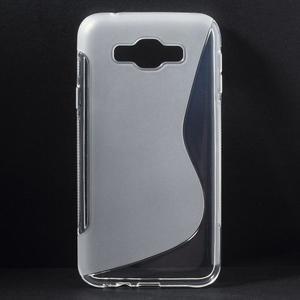 S-line gélový obal na Samsung Galaxy E7 - transparentný - 1