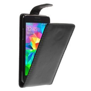 Čierné flipové puzdro pre Samsung Galaxy Grand Prime - 1