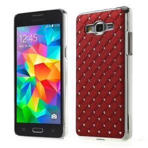 Červený drahokamový kryt pre Samsung Grand Prime - 1